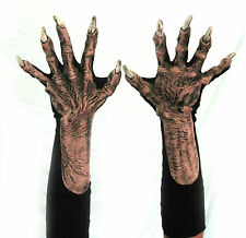 Evil Witch Flesh Old Woman Man Hands Claws Scary Adult Halloween Costume Gloves