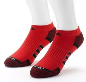 2pk Adidas Climalite Mens 6-12 Performance No-Show Socks Red 5130441 FAST! D57