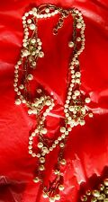 ~ STUNNING! New Modern LONG SHINY QUALITY CHAIN Pearl Designer RUNWAY NECKLACE