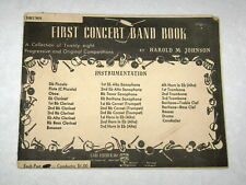 1946 First Concert Band Book Beginners Drums 28 Compositions