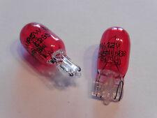 2 Stück Rote Glassockel Glühbirnen Standlicht rot mit Zulassung 12V 5W W2,1x9,5d