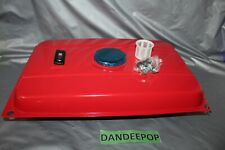 Universal 5 Gallon Generator Gas Fuel Tank Red Metal Complete With Chrome Cap