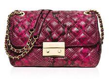 Michael Kors Tasche/Bag Sloan QUILITED LG Chain Shldr Leder Fuschia NEU!