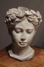 Pflanzbüste, Frauenfigur, Frauenbüste zum Bepflanzen, H 22 cm, Keramikbüste