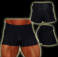 Explosive Fibres Men's Black Body-building Supplex Muscle Shorts: large