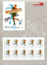 Bloc feuillet Collector autocollant carré d'encre fête du timbre 2016