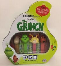 NEW DR. SEUSS' THE GRINCH PEZ LIMITED EDITION TIN SET