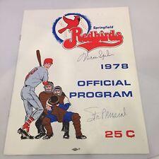 1978 Springfield Red Birds St. Louis Cardinals Program Signed Stan Musial JSA