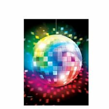 70s Disco Plastic Table Cover Glitter Ball Birthday Party Tableware