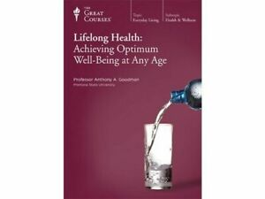 The Great Courses Lifelong Health: Achieving Optimum Well-Being at Any Age CD's