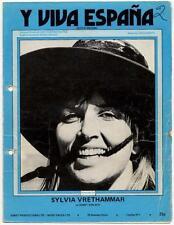 Sylvia Vrethammar Y Viva Espana 1973 Sheet Music #1 AB