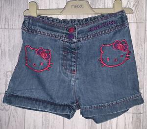 Girls Age 3-4 Years - Hello Kitty Denim Shorts