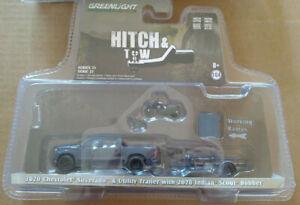 Greenlight Hitch & tow 2020 chevrolet silverado & utility trailer   (carton)
