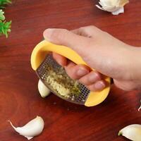 Edelstahl manuelle Knoblauchpresse Crusher Squeezer Masher Kitchen To L0Z1