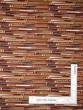 Baseball Bat Stripe Base Ball Star Cotton Fabric Benartex Play Ball 1.7 Yards