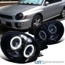 Glossy Black For Subaru 02-03 Impreza Replacement Smoke LED Projector Headlights