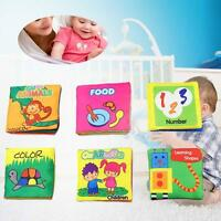 Intelligence development Cloth Fabric Cognize Book Educational Toy for Kids #M