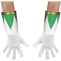 Adult Green Mighty Morphin Power Ranger 90's Halloween Costume Gloves Men's