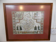 More details for large,framed,glazed,cambridge map,1610,map,cambridge,wall map,colleages,print