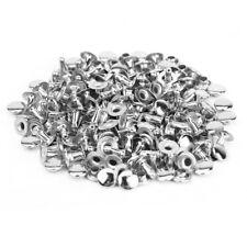 100pz. 6mm Rivetto Borchie Argento DIY Scarpe Cintura Borse Cucito Decorazione