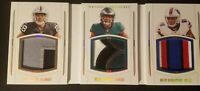 2019 National Treasures RC J.Jacobs M.Sanders D.Singletary 3x Patch Book SP #/25