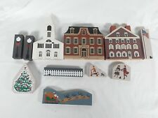 The Cat's Meow Christmas Philadelphia, Santa Sled, and Others 11 Piece Mix Set