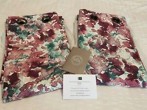 John Lewis Lola Mulberry Eyelet curtains BRAND NEW MTM 122.5 W x200cm L RRP £230
