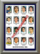 ROMANIA - 1970 WORLD CUP - REPRO STICKERS A3 POSTER PRINT