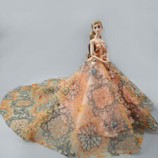 "Orange Fashion Wedding Dress for 11.5"" Doll Clothes Princess Evening Dress Toy"