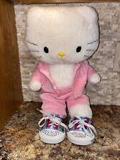 "Build A Bear Pink Hello Kitty Sunshine 18"" Plush Stuffed With Cloths"
