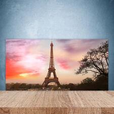 Crédence de cuisine en verre Panneau Paroi 100x50 Architecture Tour Eiffel Paris