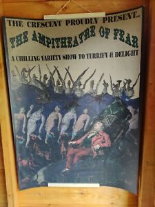 Large Victorian Style Billboard Poster sideshow circus curiosity Halloween 93x67