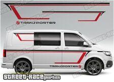 VW Volkswagen Transporter lados 072 Racing Rayas Pegatinas de gráficos T4 T5 T6
