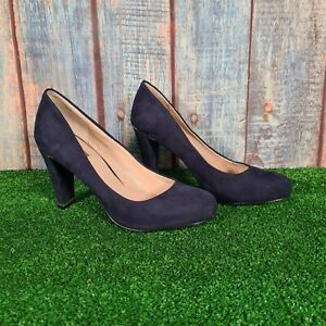 Carvela Kurt Geiger Ladies Blue Suede High Heel Shoes UK 3 EU 36