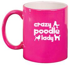 11oz Ceramic Coffee Tea Mug Glass Cup Crazy Poodle Lady