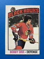 Bobby Orr 1976-77 O-Pee-Chee Hockey Card #213 Chicago Black Hawks