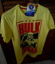 HULK HOGAN WWE 2015 T SHIRT SIZE 12 (S) NEW WITH WWE OFFICIAL PRODUCT TAGS