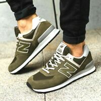 New Balance 574 Shoes Men's Size 10.5 ML574EGO OLIVE SUEDE