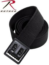 """Rothco Military Cotton Web Belt With Open Face Buckle 44"""" - 54"""" & 64"""" Cut To Fit"""