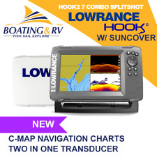 Lowrance Hook2 7 Combo Splitshot + Transducer + Maps + Sun Cover | Fast Shipping