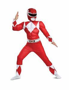 Power Rangers-Kostüm für Kinder Serienfigur rot-weiss - Cod.335253