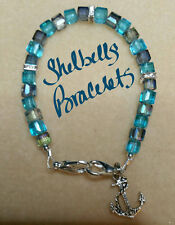 Handmade Medical Alert ID Replacement Bracelet/Blue
