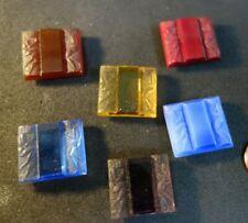 6  Vintage Czech  Deco   figural  ART Glass  Cabochon Jewelry pieces DECO LADIES