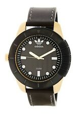 adidas Men's Originals 1969 Watch Adh3039 Black Leather NWT $145