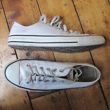 Converse Chuck Taylor All Star en cuir blanc LO Low Top Baskets UK 8 Men's