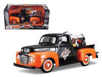 1/24 Maisto 1948 Ford F-1 Pickup Truck with 1958 Harley Davidson Diecast 32180