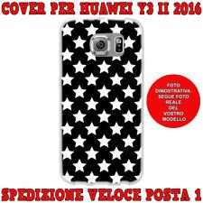 Cover custodia in gomma di silicone per Huawei Y3 II 2016 fantasi STELLE BIANCHE