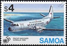 United Nations (UN) RNZAF ANDOVER C-1 / HS-780 Aircraft Stamp (1995 Samoa)