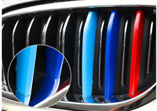 Blue M-Color Front Grille Grill Cover Insert Trim 3pcs for BMW X5 E70 2007-2013