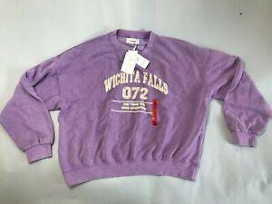 Pull & Bear Varsity round neck sweatshirt pink Size m